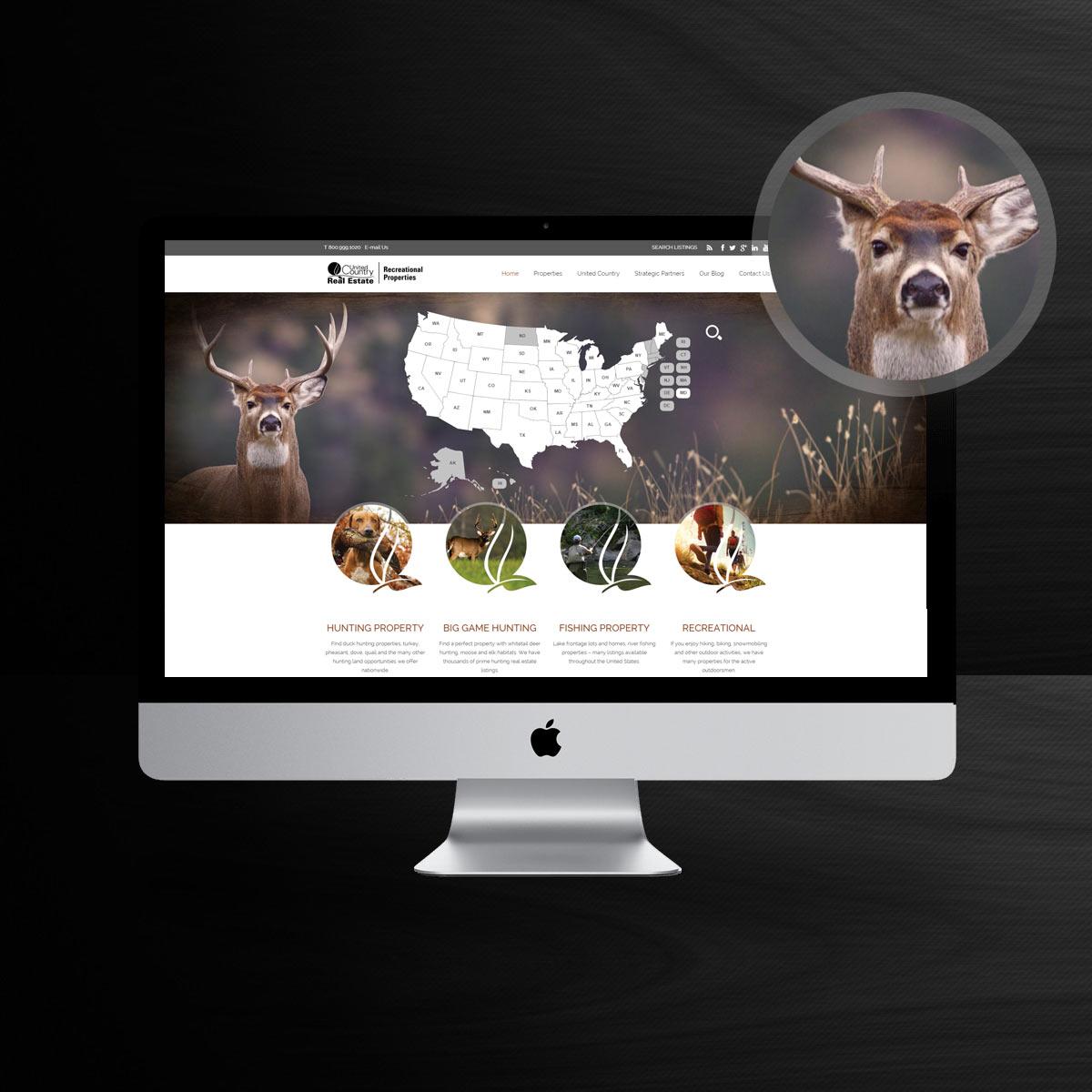 real estate website design sample
