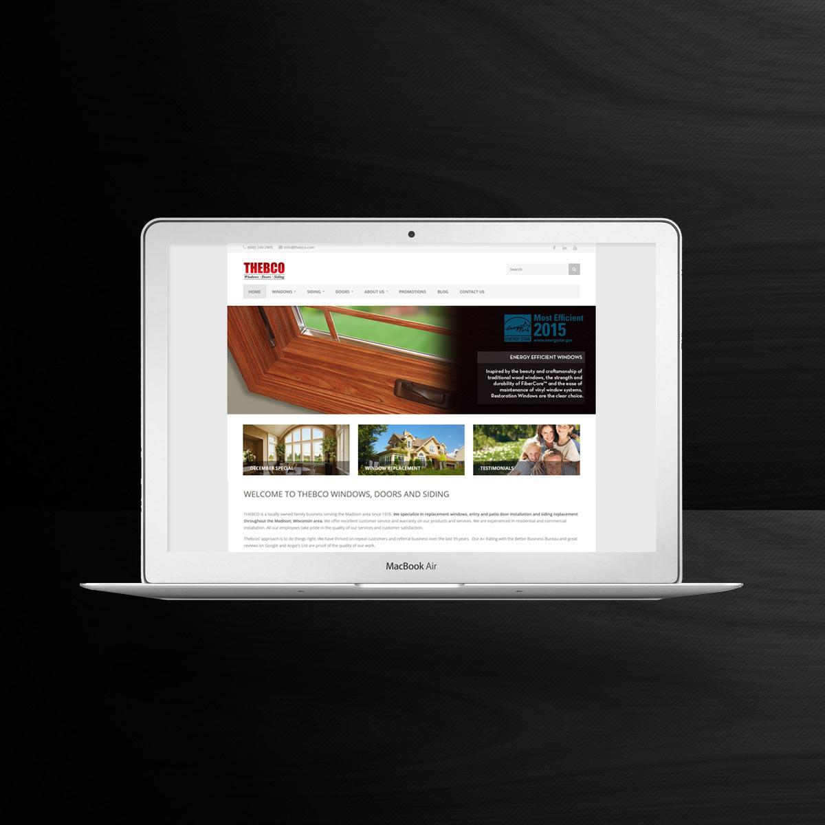 window company website sample
